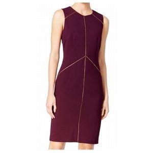 Calvin Klein Aubergine Sz 12 Sheath Dress